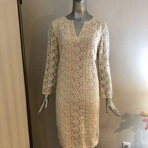Talbots Ivory Lace Dress